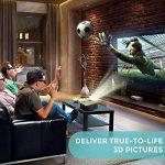 Vidéoprojecteur HD, Projecteur Cinéma Maison Houzetek M5, 4000 Lumens Projecteur LCD Supporte 1080P Full HD VGA / HDMI / USB / SD / AV Entrée, Compatible avec PS3, PS4, Amazon Fire TV Stick, TV Box, Clé USB, PC, Ordinateur portable, SD carte, iphone, Andr image 3 produit