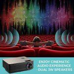 Vidéoprojecteur HD, Projecteur Cinéma Maison Houzetek M5, 4000 Lumens Projecteur LCD Supporte 1080P Full HD VGA / HDMI / USB / SD / AV Entrée, Compatible avec PS3, PS4, Amazon Fire TV Stick, TV Box, Clé USB, PC, Ordinateur portable, SD carte, iphone, Andr image 4 produit