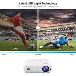 Vidéoprojecteur, LESHP 1080p Full HD Projecteur LCD Retroprojecteur Portable Home Cinéma 3200 Lumens Soutien HDMI/VGA/USB/AV/TV/YPbPr Blanc de la marque Cozime image 1 produit