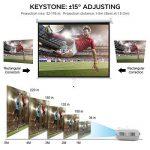 Vidéoprojecteur, LESHP 1080p Full HD Projecteur LCD Retroprojecteur Portable Home Cinéma 3200 Lumens Soutien HDMI/VGA/USB/AV/TV/YPbPr Blanc de la marque Cozime image 3 produit