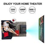 Vidéoprojecteur, LESHP 1080p Full HD Projecteur LCD Retroprojecteur Portable Home Cinéma 3200 Lumens Soutien HDMI/VGA/USB/AV/TV/YPbPr de la marque Cozime image 4 produit
