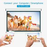 Vidéoprojecteur, LESHP HD 1080P HD 3300 Lumens LED Mini LCD Projecteur de Cinema Thétre Familiale Privé, Projecteur Portable 1080P/USB/VGA/SD/HDMI pour Xbox/iphone/Smartphone/PC (Noir) de la marque LESHP image 2 produit