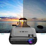 Vidéoprojecteur, LESHP HD 1080P HD 3300 Lumens LED Mini LCD Projecteur de Cinema Thétre Familiale Privé, Projecteur Portable 1080P/USB/VGA/SD/HDMI pour Xbox/iphone/Smartphone/PC (Noir) de la marque LESHP image 1 produit