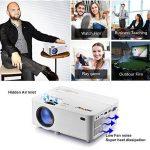 Vidéoprojecteur, Mofek 1800 Lumens Mini Projecteur Portable LED Retroprojecteur Soutien Full HD 1080 P HDMI USB SD VGA AV, pour les parties de divertissement de cinéma maison Parties Compatible avec Amazon Fire TV Stick de la marque image 3 produit