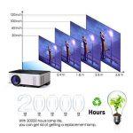Vidéoprojecteur, OMAS Full HD 1080P 1800 Lumens LED Mini LCD Projecteur de Cinéma Privé, Rétroprojecteur Portable avec Support HDMI / VGA / AV / 1 Port USB PC Ordinateur Xbox TV de la marque OMAS image 4 produit