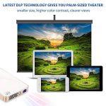 Vidéoprojecteur Siroflo P8S DLP Mini Projecteur Portable LED Soutien HD 1080p 854*480 HDMI USB TF Card DC Port Projecteur de Cinéma Maison de la marque siroflo image 4 produit