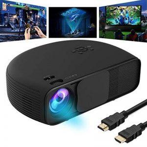 Vidéoprojecteur Wi-Fi 1080P, VPRAWLS Full HD LED Cinéma Maison Projecteur Portable Mini Projecteur Sans Fil pour iPhone avec HDMI USB Casque Jack Bon pour Home Cinéma XBOX ONE 130 '' Max Dispaly de la marque VPRAWLS image 0 produit