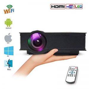 Vidéoprojecteurs, Mini WiFi Rétroprojecteur Portable 1200 Lumens Suport HD1080P 1200LM pour TV, Xbox, Ordinateur Portable, iPhone, iPad et Smartphone, Noir de la marque Teamyo image 0 produit