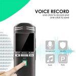 VIFLYKOO Dictaphone Numérique Rechargeable Activation Vocale Lecteur MP3 Enregistreur Portable pour Entretien Interview Conférence Présentation Discours Cours - Noir de la marque VIFLYKOO image 4 produit