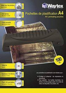 Waytex 78272 Pack de 100 Pochettes de plastification A4 250 microns Transparent de la marque Waytex image 0 produit