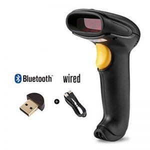 WELQUIC Lecteur de Code Barre Bluetooth Laser USB Sans Fil Douchette Scanner de Code-barres Portable,Compatible avec Windows/Android / iOS/Mac / Linux,Noir de la marque WELQUIC image 0 produit