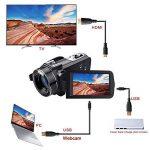WiFI Caméscope Caméra, Eamplest Télécommande Full HD 1080P 30FPS 24MP 16X Caméra Vidéo Zoom Numérique, Enregistreur Numérique Caméra Numérique avec Microphone Externe et Grand Angle(Z20) de la marque Eamplest image 4 produit