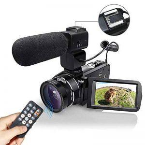 WiFI Caméscope Caméra, Eamplest Télécommande Full HD 1080P 30FPS 24MP 16X Caméra Vidéo Zoom Numérique, Enregistreur Numérique Caméra Numérique avec Microphone Externe et Grand Angle(Z20) de la marque Eamplest image 0 produit