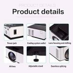 WiFi HD Vidéoprojecteur,ELEGIANT VS319 Vidéoprojecteur LED Andrews 4.4 système Bluetooth intelligente/Built-in sans fil WIFI/Portable Projecteur numérique/Multimédia Home Cinéma/2.0 Support U disque et disque dur USB Mini Projecteur résolution 800 x 480 H image 3 produit