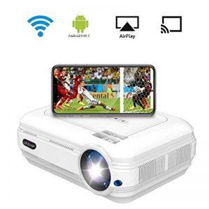 WIFI Vidéoprojecteur, LESHP Vidéoprojecteur Portable 3200 Lumens Retroprojecteur LED Soutien HD 1080P, HDMIX2 / AV / USBX2 / VGA / Micro SD, Projecteur de Cinéma Maison pour Jeu Video Photos Films de la marque AgoHike image 0 produit