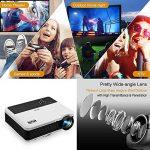 """WIKISH Numérique LCD HD Projecteurs Home Cinéma 1080 P Soutenir 4500 Lumens 5.8 """"TFT 1280x800 Native Projecteur de film d'intérieur en plein air avec HDMI USB VGA vidéo, Keystone à distance pour PC TV PC DVD Xbox Wii Roku de la marque WIKISH image 1 produit"""