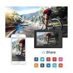 """WiMiUS Q1 Caméra Sport 4k WIFI Ultra HD 16MP Caméra d'Action Sportive Etanche 40M 2"""" LCD Ecran, 170° Grand Angle Kit d'Accessoires avec 2 Batteries et Housse Portable (Noir) de la marque WiMiUS image 3 produit"""