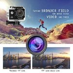 """WiMiUS Q1 Caméra Sport 4k WIFI Ultra HD 16MP Caméra d'Action Sportive Etanche 40M 2"""" LCD Ecran, 170° Grand Angle Kit d'Accessoires avec 2 Batteries et Housse Portable (Noir) de la marque WiMiUS image 4 produit"""