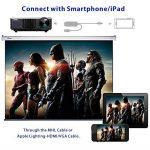 WIMIUS T7 Projecteur, Videoprojecteur HD LED 3000 Lumens Retroprojecteur Portable LCD Home Cinema Soutien Video 1080P HDMI USB VGA AV Noir de la marque WiMiUS image 3 produit
