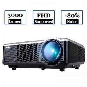 WIMIUS T7 Projecteur, Videoprojecteur HD LED 3000 Lumens Retroprojecteur Portable LCD Home Cinema Soutien Video 1080P HDMI USB VGA AV Noir de la marque WiMiUS image 0 produit