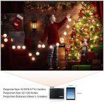 WIMIUS T7 Projecteur, Videoprojecteur HD LED 3000 Lumens Retroprojecteur Portable LCD Home Cinema Soutien Video 1080P HDMI USB VGA AV Noir de la marque WiMiUS image 2 produit