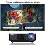 WIMIUS T7 Projecteur, Videoprojecteur HD LED 3000 Lumens Retroprojecteur Portable LCD Home Cinema Soutien Video 1080P HDMI USB VGA AV Noir de la marque WiMiUS image 1 produit