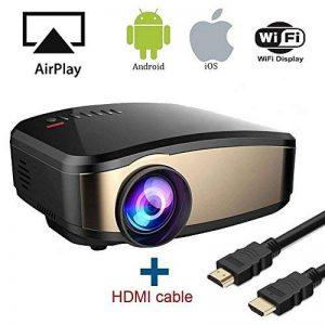 Wireless Display WiFi Projecteur, HuiHeng LCD Mini Projecteur Vidéo Projecteur Vidéo avec HDMI VGA USB Port AV Pour Home Cinéma Entertaiment de la marque huiheng image 0 produit