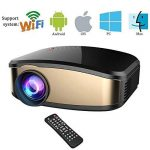 Wireless Display WiFi Projecteur, HuiHeng LCD Mini Projecteur Vidéo Projecteur Vidéo avec HDMI VGA USB Port AV Pour Home Cinéma Entertaiment de la marque huiheng image 3 produit