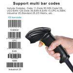 Wonsidary USB Lecteur de Code-Barres Scanner Filaire 1D Automatique Barcode Reader Support Réglable Compatible avec Mac Win10 Win7 Win8.1 iOS7 Linux etc de la marque Wonsidary image 3 produit