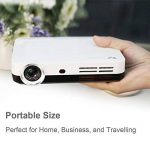 WOWOTO Vidéo Projecteur, 3500Lumens 1280x800 résolution HD vidéoprojecteur, Android 4.4, LED projecteur avec Correction du trapeze, HDMI, Wi-Fi et Bluetooth (H9, Blanc) de la marque WOWOTO image 2 produit