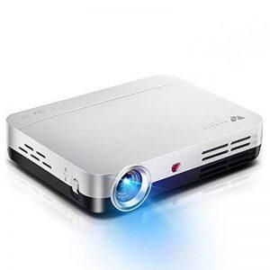 WOWOTO Vidéo Projecteur, 3500Lumens 1280x800 résolution HD vidéoprojecteur, Android 4.4, LED projecteur avec Correction du trapeze, HDMI, Wi-Fi et Bluetooth (H9, Blanc) de la marque WOWOTO image 0 produit