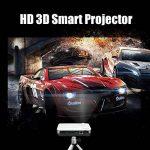WOWOTO Vidéo Projecteur, 3500Lumens 1280x800 résolution HD vidéoprojecteur, Android 4.4, LED projecteur avec Correction du trapeze, HDMI, Wi-Fi et Bluetooth (H9, Blanc) de la marque WOWOTO image 3 produit