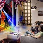 WOWOTO Vidéoprojecteur, 2000Lumen 1280x800 résolution HD Projecteur, Android 4.4, LED projecteurDLP avec Correction du trapeze, HDMI, Wi-Fi et Bluetooth de la marque WOWOTO image 4 produit