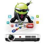 WOWOTO Vidéoprojecteur, 2000Lumen 1280x800 résolution HD Projecteur, Android 4.4, LED projecteurDLP avec Correction du trapeze, HDMI, Wi-Fi et Bluetooth de la marque WOWOTO image 3 produit