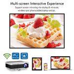 WXGA HD LED Smart Projecteur vidéo Wifi avec Bluetooth Airplay Miracast Mirroring pour iPhone iPad,1080p sans fil HDMI LCD Home Cinéma projecteurs pour TV en plein air Film (manuel en anglais) de la marque EUG image 2 produit