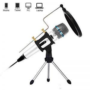 XIAOKOA Profession Microphone PC, Microphone Condensateur pour Ordinateur, Microphone Enregistreur pour Téléphone, Ordinateur, Ipad, Podcasting, Chat en Ligne tel Que Facebook, MSN, Skype (M30-white) de la marque XIAOKOA image 0 produit