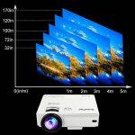 XuanPad Mini Projecteur 2400 Lumens Vidéoprojecteur Portable Retroprojecteur, 55000 Heures Multimédia Home Cinéma Projecteur, Compatible avec Amazon Fire TV Stick, Full HD 1080 P HDMI, VGA, USB, AV, ordinateur portable, iphone, Android Smartphone … de la image 2 produit
