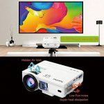 XuanPad Mini Projecteur 2400 Lumens Vidéoprojecteur Portable Retroprojecteur, 55000 Heures Multimédia Home Cinéma Projecteur, Compatible avec Amazon Fire TV Stick, Full HD 1080 P HDMI, VGA, USB, AV, ordinateur portable, iphone, Android Smartphone … de la image 3 produit