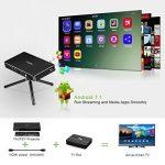 Yaufey Mini Pico Projecteur DLP Vidéo Projecteur, Mini Vidéoprojecteur Wireless Android 7.1 Portable Projecteurs pour Home cinéma, Full HD 1080p LED Projector avec trépied et câble HDMI de la marque Yaufey image 3 produit