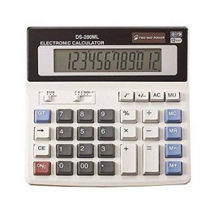 YEBMoo grande calculatrice calculatrice électronique compteur solaire et batterie affichage à 12 chiffres multifonction gros bouton calcul d'école de bureau d'affaires de la marque YEBMoo image 0 produit