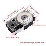 Yibuy Largeur de 12mm imprimante d'étiquettes à cassette pour Kl-820manuel imprimante d'étiquettes de la marque Yibuy image 3 produit