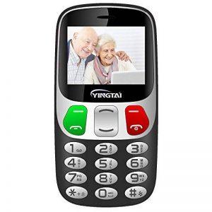 YINGTAI Telephone Portable Mobile Senior Grosse Touches et Bouton SOS (Noir) de la marque YINGTAI image 0 produit