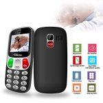 YINGTAI Telephone Portable Mobile Senior Grosse Touches et Bouton SOS (Noir) de la marque YINGTAI image 1 produit