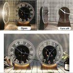 YL-Light Horloge 3D Acrylique Lampe De Table Art Déco Creative Home Enfant USB Bois Artisanat LED Lampe De Bureau Nuit Lumière 3D,Creativeeuroeandigitalclock de la marque YL-Light image 3 produit