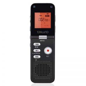 YOHOOLYO 8GB Dictaphone Enregistreur Numérique Enregistreur Audio Vocale Portable LCD Ecran-Noir de la marque YOHOOLYO image 0 produit