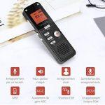 YOHOOLYO 8GB Dictaphone Enregistreur Numérique Enregistreur Audio Vocale Portable LCD Ecran-Noir de la marque YOHOOLYO image 2 produit