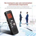 YOHOOLYO 8GB Dictaphone Enregistreur Numérique Enregistreur Audio Vocale Portable LCD Ecran-Noir de la marque YOHOOLYO image 3 produit