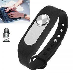 YONIS Dictaphone Numérique 16 Go Enregistreur Audio Micro Espion Bracelet Noir de la marque YONIS image 0 produit