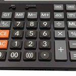 Yulan électronique calculatrice de bureau avec écran 14Chiffres batterie ou alimentation solaire calculatrice de bureau noir de la marque YULAN image 2 produit