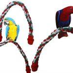 yunt Corde élastique Pet jouet pour oiseau perroquet oiseaux écureuil debout Pont Support Pour Cage à corde en coton à levier Bar de la marque Yunt image 2 produit